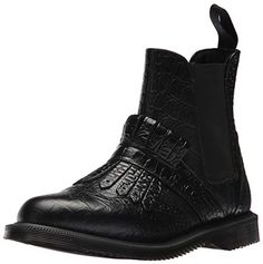 Martens Women's Tina Croc Chelsea Boot * Nice of you to have dropped by to see the picture. (This is an affiliate link) All Black Sneakers, High Top Sneakers, Mid Calf Boots, My Wardrobe, Ankle Booties, Crocs, Chelsea Boots, Booty, Uk 5
