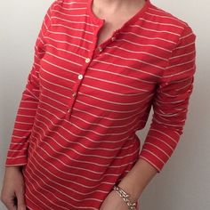 SALEC. Wonder Reddish striped long sleeve top This is a super comfortable shirt made by C. Wonder. This is preowned and is in great condition, no rips or stains. This is a size large, measurements available upon request. C. Wonder Tops