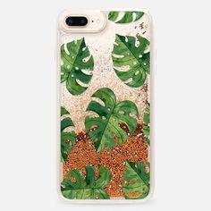 Casetify iPhone 8 Plus Liquid Glitter Case - Tropical case by Priyanka Chanda