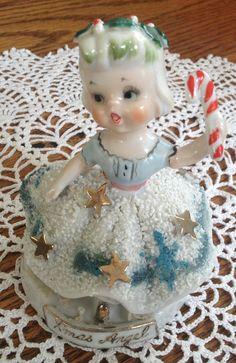Vintage Christmas Angel figurine. Marked by SusieQsvintageware