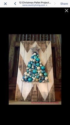 Barn wood chevron Christmas tree