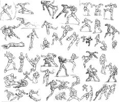 kicking poses | Stick Figure Action Pose Reference