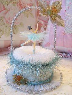 Tiny Aqua Ballerina Ice Skater Box