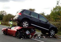 Ferrari vs Suv - #car #accident #Ferrari #Suv