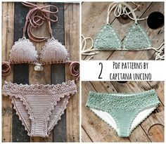 2 PDF Crochet PATTERNS Lorelei Bikini Pattern with basic