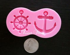 Anchor Cameo Silicone Mold Mould Nautical 40mm Resin by MoldMuse