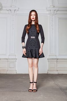 "LUBLU Kira Plastinina ""Jacquard paneled dress."""
