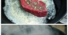 Ingredients 4 rump steaks (1 to 1.5-inches thick), room tº 2 or 3 garlic cloves 2 Tbs fresh rosemary leaves 3 Tbs butter 1 Tbs olive...