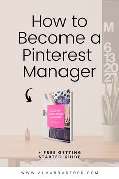 Did you know that you can start your very own business helping bloggers manage their Pinterest accounts? In this article, I show you what you need to start working as a Pinterest manager. #workfromhome #onlinebusiness #PinterestManagement Make Money Blogging, Make Money From Home, How To Make Money, How To Become, Social Media Marketing, Marketing Ideas, Email Marketing, Affiliate Marketing, Digital Marketing