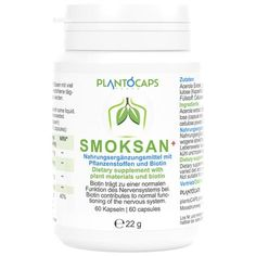 PLANTOCAPS SMOKSAN + capsules 60 pcs UK Biotin, Smoking Cessation, Passion Flower, Nervous System, Metabolism, Health Insurance Coverage, Apothecaries, Losing Weight, Physiology