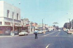 Looking north on Clovis Avenue from Fifth Street. Circa 1960