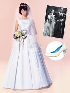 品よくクラシカルなファーストレディ花嫁 第35代アメリカ大統領ジョン・F・ケネディの元夫人、ジャクリーン・ケネディ・オナシス。洗練されたファ...