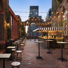 Pod 39: This space is straight-up romantic: English ivy climbs around original brick archways, terra cotta columns, cafe lights... swing by at sunset to watch the sun sink behind the Empire State building. The drinks and snacks are from the folks behind Salvation Taco, and are predictably awesome -- if you want to seal the date deal though, order the guacamole. From The 16 Best Rooftop Date Spots in NY
