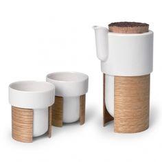Fancy - Warm tea & coffee set, oak - Tonfisk Warm - Coffee & Tea - Tableware - Finnish Design Shop