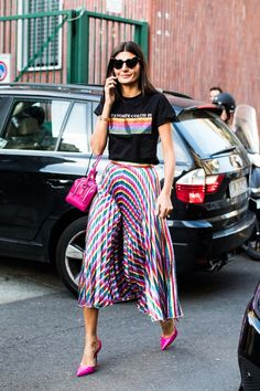 32 ideas fashion week looks giovanna battaglia Street Style Fashion Week, Street Style Chic, Street Style Trends, Look Fashion, High Fashion, Fashion Outfits, Fashion Trends, Milan Fashion, Stylish Outfits