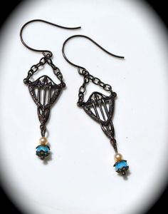 Art Deco Earrings handmade bridal jewelry by practicallyfrivolous