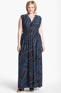 Viereck 'Rochelle' Matte Jersey Maxi Dress (Plus Size) available at #Nordstrom