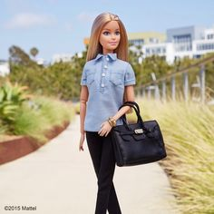 """""""Chambray all day! #barbie #barbiestyle"""""""