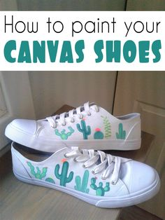 How to paint canvas shoes How to paint your canvas shoes<br> White Canvas Shoes, Painted Canvas Shoes, Hand Painted Shoes, Painted Clothes, White Shoes, Painted Converse, Painted Sneakers, Canvas Sneakers, Shoe Crafts