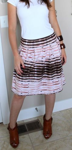 DIY Skirt Tutorials   Because skirts will always be more flattering and more comfortable than shorts. Plus, they're a fuckload easier to make