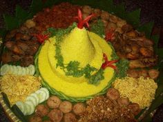 Nasi Kuning (Yellow Rice from Bali & Java, Indonesia)