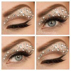 Jeweled eyes for festivals:)