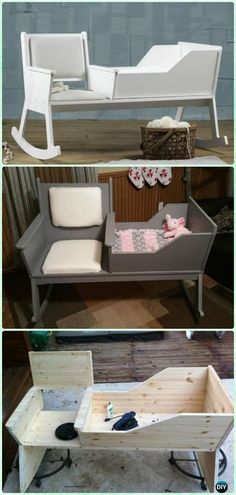 DIY Rocking Chair Crib Instruction - DIY Baby Crib Projects [Free Plans]
