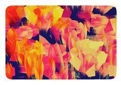 Geo Flower by Kathryn Pledger Bath Mat