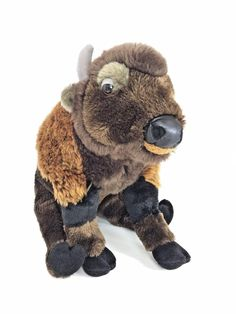 Gund Cherokee Bison Buffalo 12034 Realistic Plush Stuffed Animal Toy Western   | eBay