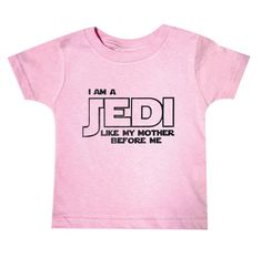 I am a Jedi just like my mommy, Baby Clothes, Funny Baby Clothing, Star Wars Baby, Newborn gift, Geekery Baby, infant clothes, infant tees