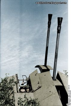 WW2 in Colour: 3.7cm Flakzwilling 43, France 1944