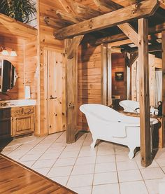Beautiful Gatlinburg mountain cabins offered by Cabins For You. Bear Elegance is located in the Mountain Shadows resort. Lake House Bathroom, Cabin Bathrooms, Home Renovation, Home Remodeling, Gatlinburg Cabin Rentals, Rustic Vanity, Cabins In The Woods, Rustic Farmhouse, Bear