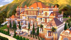 The Sims 4 Packs, Fairytale House, Mansion Designs, Sims House Plans, Sims House Design, Casas The Sims 4, Cartoon House, Sims Building, Sims 4 Characters