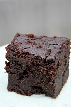 Dark Chocolate (Gluten Free!) Pumpkin Brownies