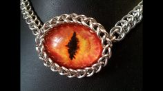 Chainmaille bezel for undrilled stones