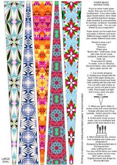 paper bead making instructions