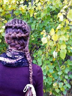 "Girly French Braid Mix up the classic french braid by starting the braid at one side of your head and following an ""S"" shape."