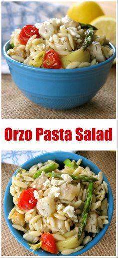 Orzo Pasta with Scallops and Artichokes