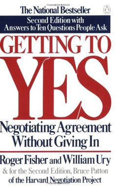 Getting to Yes: Negotiating Agreement Without Giving In b... https://www.amazon.com/dp/0140157352/ref=cm_sw_r_pi_dp_U_x_0HmGAbRNH6A4P