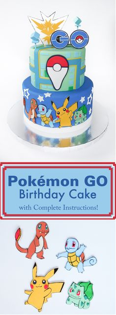 You love playing the game, now it's time to enjoy a Pokemon Go themed cake!