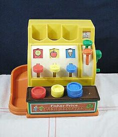Vintage Toys Back in the day toys were training for work skills.everything was prepping for an adult job.think about it- doctor, cashier, vet, musician.not like superhero stuff.no wonder we're so cool. Jouets Fisher Price, Fisher Price Toys, Vintage Fisher Price, Childhood Toys, Childhood Memories, Childhood Photos, Back In The 90s, 21 Things, 80s Kids