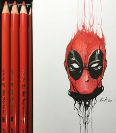 Deadpool | by KerbyRosanes | #DrippingPortraits