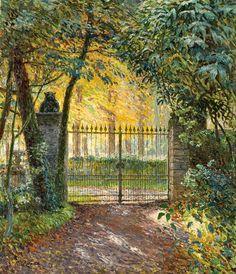Emile Claus - Het hek van villa 'Zonneschijn'