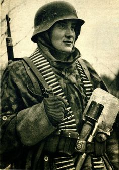 Waffen SS soldiers in action and portraits
