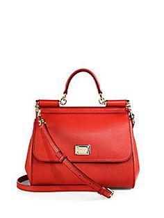 Dolce & Gabbana - Miss Sicily Textured-Leather Bag