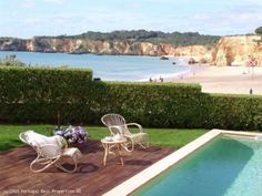 3 bedroom Beachfront Villa in Praia do Vau, Portimão, Algarve, Portugal - Situated overlooking of the prettiest beaches in the Algarve, this restored quinta offers comfort and style in a fantastic location and an idyllic spot to enjoy the sun drenched Algarve coastline. - http://www.portugalbestproperties.com/component/option,com_iproperty/Itemid,16/id,46/view,property/#