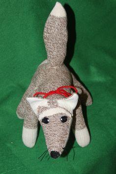 Handcrafted Sock Monkey FOX. $25.00, via Etsy.