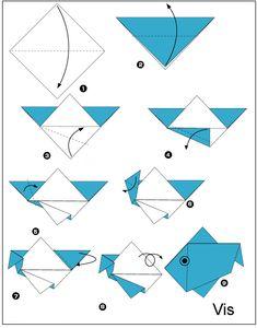 origami vis vouwen instructie - Google zoeken