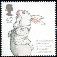 Alice in Wonderland literary stamp