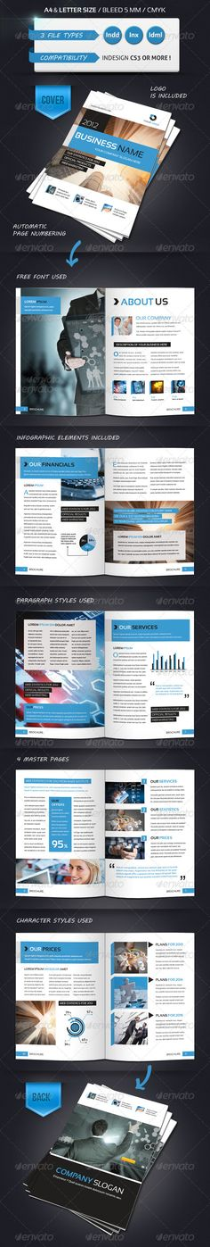 Modern Brochure Template A4 12 Pages - GraphicRiver Item for Sale